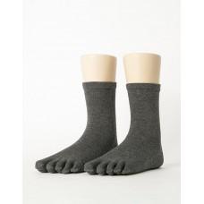 紳士素面五趾長襪-灰色