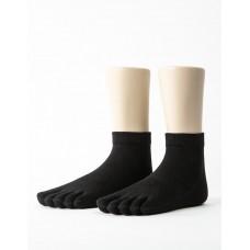 紳士素面五趾短襪-黑色
