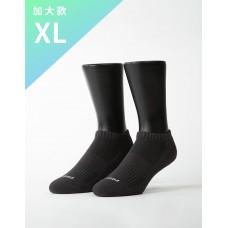 素色美學氣墊船短襪-灰色-XL加大款