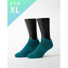 素色美學氣墊船短襪-綠色-XL加大款