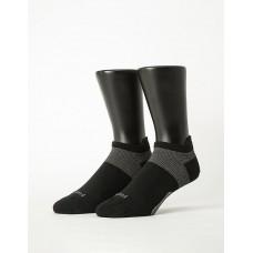 全薄款輕壓力足弓船短襪-黑色