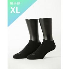 微分子氣墊單色船型薄襪 - 黑色-XL加大款