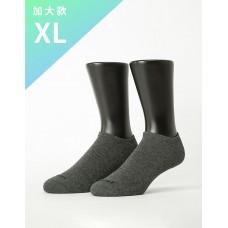 微分子氣墊單色船型薄襪 - 灰色-XL加大款