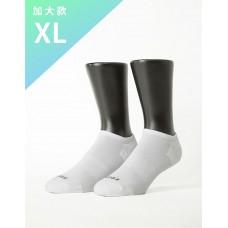 微分子氣墊單色船型薄襪 - 白色-XL加大款