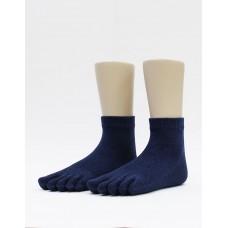 文青最愛五趾短襪-藍色