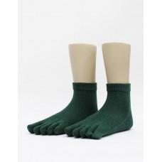 文青最愛五趾短襪-綠色