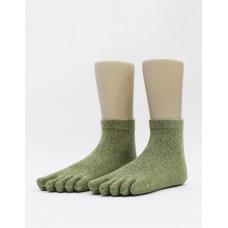 文青最愛五趾短襪-淺綠