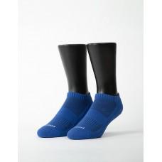 素色美學氣墊船短襪-藍色