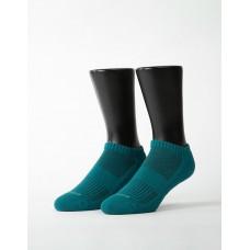 素色美學氣墊船短襪-綠色
