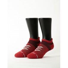 速度感輕壓力船短襪-紅色