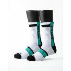 天生贏家運動氣墊襪-白色