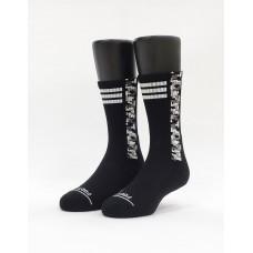 歐北共運動氣墊襪-黑色