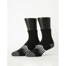 心電感應運動氣墊襪-黑色