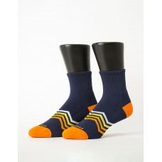 心電感應運動氣墊襪-深藍