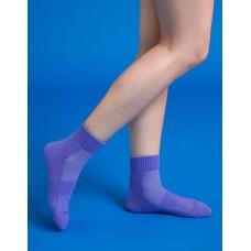 素色美學氣墊運動襪-紫色