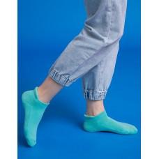 低調原色防磨船短襪-綠色