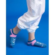 速度感輕壓力船短襪-藍粉