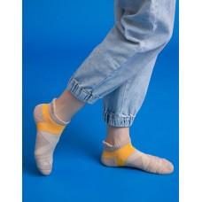 暖陽麻花輕壓力足弓船短襪-米色