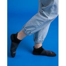 暖陽麻花輕壓力足弓船短襪-黑色
