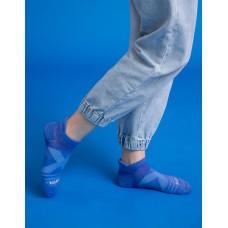 暖陽麻花輕壓力足弓船短襪-深藍