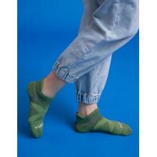 暖陽麻花輕壓力足弓船短襪-綠色