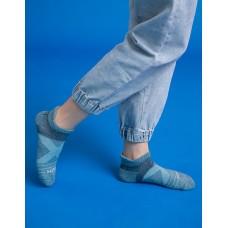 暖陽麻花輕壓力足弓船短襪-淺藍