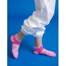 暖陽麻花輕壓力足弓船短襪-粉紅