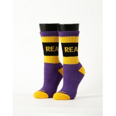 率性自我運動氣墊襪-紫色