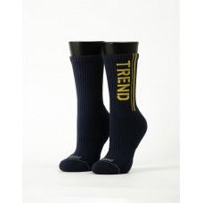 流行先驅運動氣墊襪-藍色