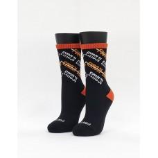 史密斯運動氣墊襪-黑色