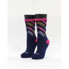 史密斯運動氣墊襪-藍色