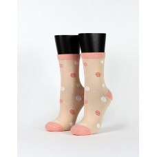 公園吹泡泡微分子襪-粉紅