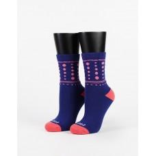 微醺泡泡糖微分子襪-藍色