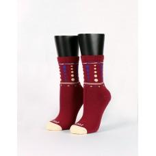 微醺泡泡糖微分子襪-紅色