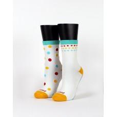 霓彩派對不對稱襪-白色