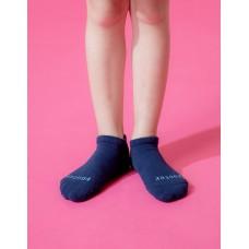 單色運動氣墊船短襪-深藍