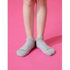 單色運動氣墊船短襪-淺灰