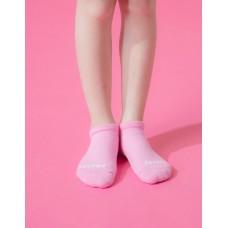 單色運動氣墊船短襪-粉紅
