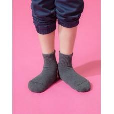 單色運動氣墊襪-深灰