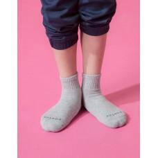 單色運動氣墊襪-淺灰