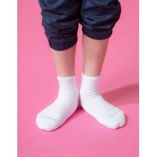 單色運動氣墊襪-白色