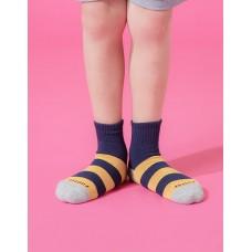 蜜蜂特攻隊運動氣墊襪-淺灰頭-M