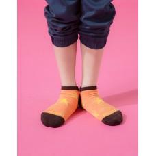 潮流星星船短襪-橘色