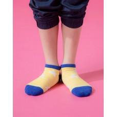 潮流星星船短襪-黃色