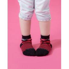 Baby止滑菱格氣墊襪-黑色-S