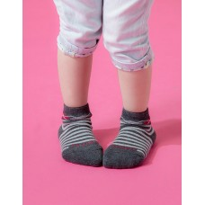 Baby止滑菱格氣墊襪-灰色-S
