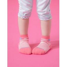 Baby止滑菱格氣墊襪-粉紅-S