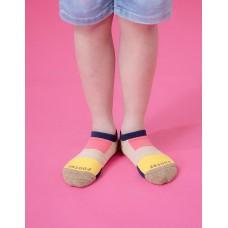 畢卡索畫布船短襪-藍邊
