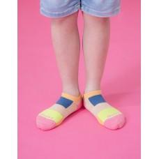 畢卡索畫布船短襪-橘邊