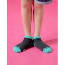 兒童運動船短襪-綠色